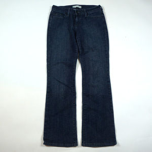 Levis 545 Low Boot Cut Size 4 Dark Wash Jeans